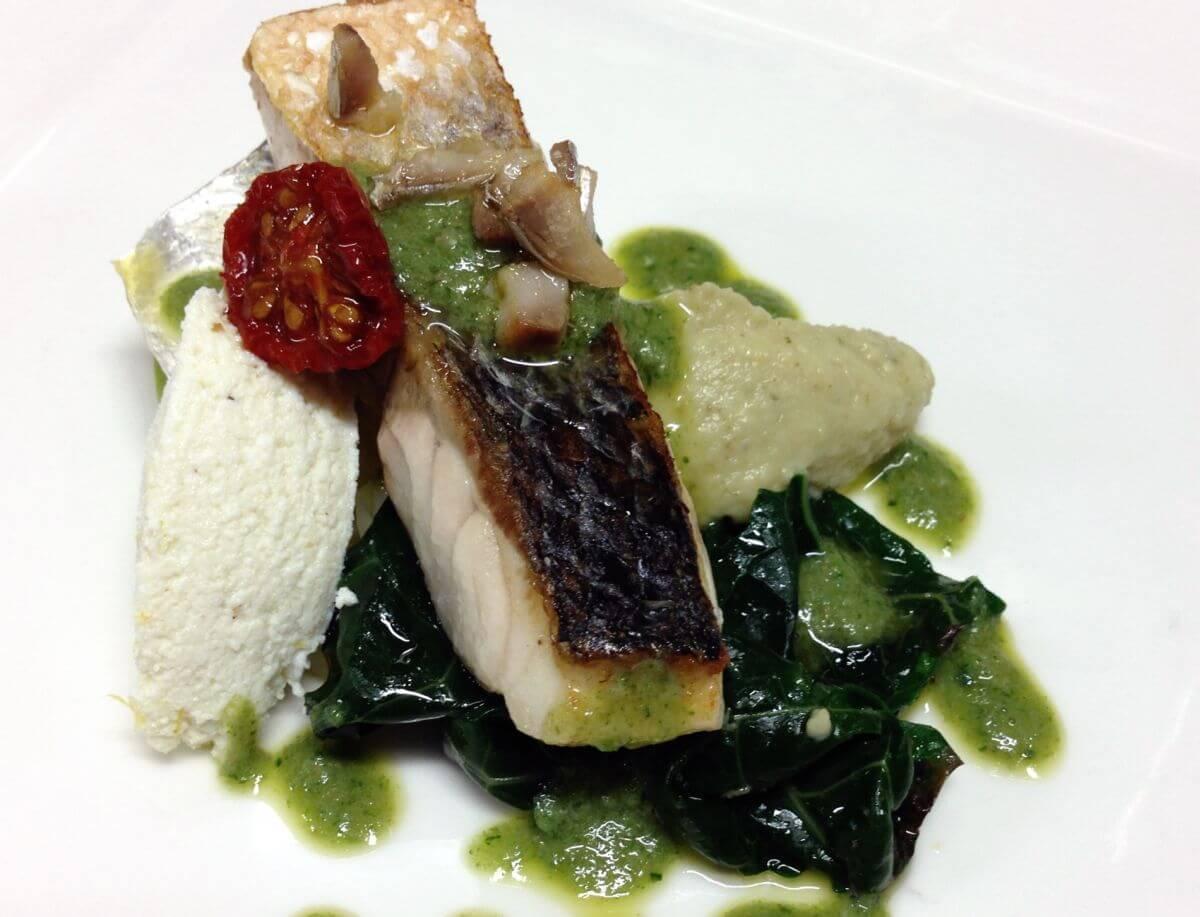 Bernsteinmakrelenhäppchen im Gourmet-Restaurant im Luxushotel Lido Palace am Gardasee