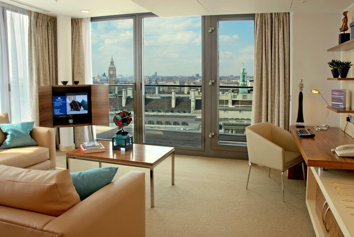 Hotel mit Blick auf Big Ben