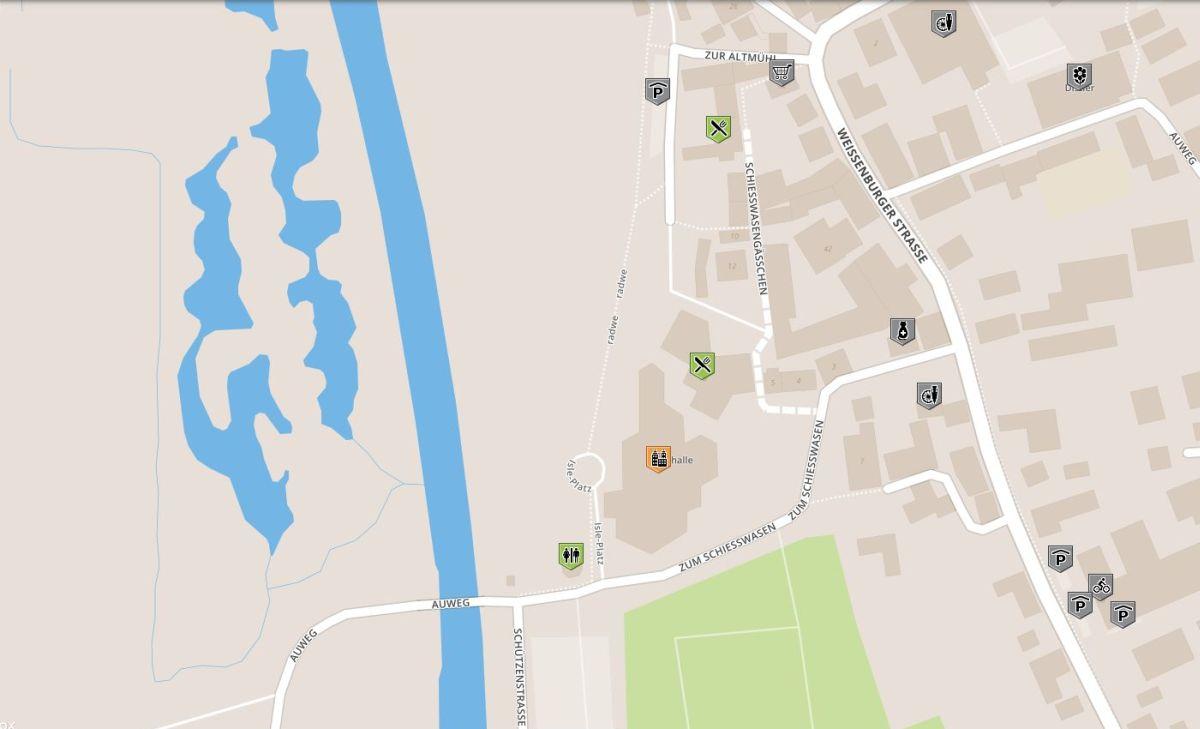 Karte für rollstuhlgerechte Orte im Altmühltal