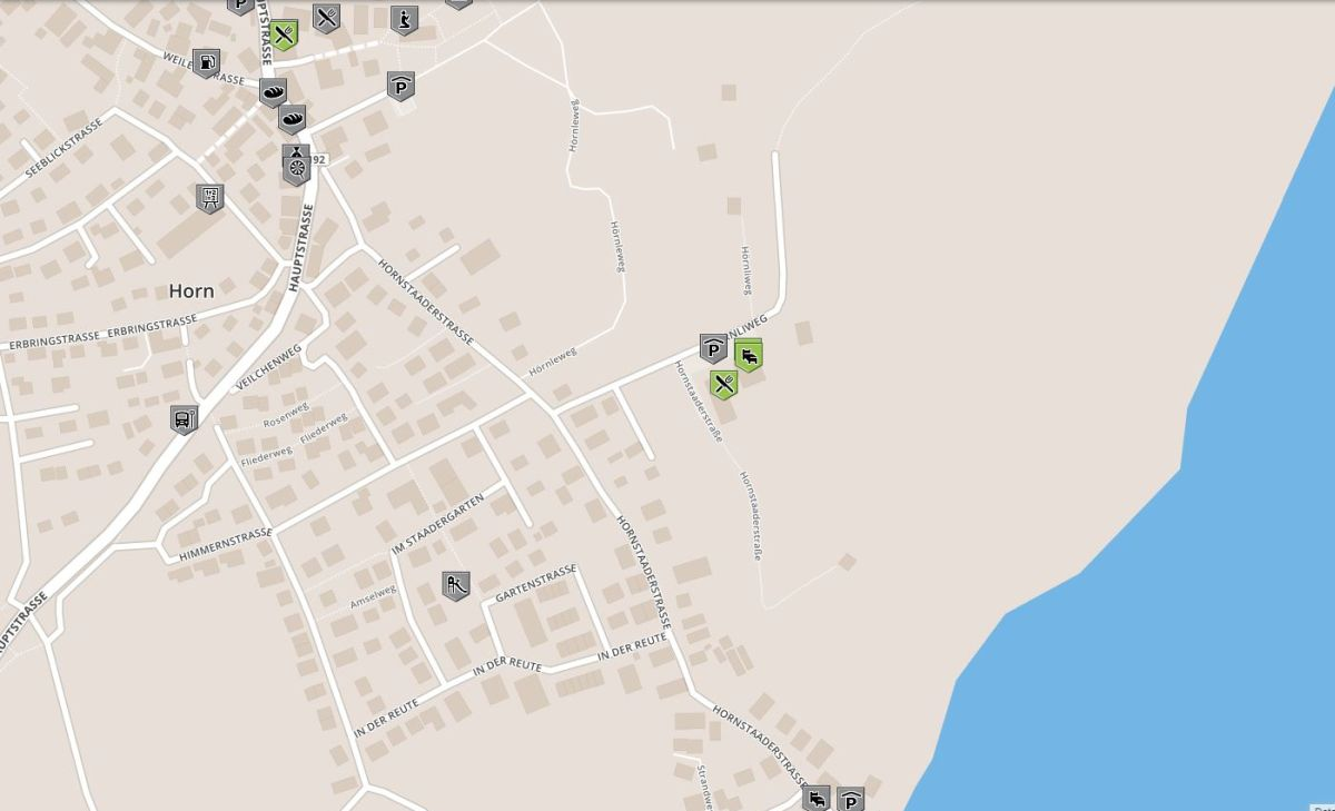 Karte für rollstuhlgerechte Orte im Seehörnle