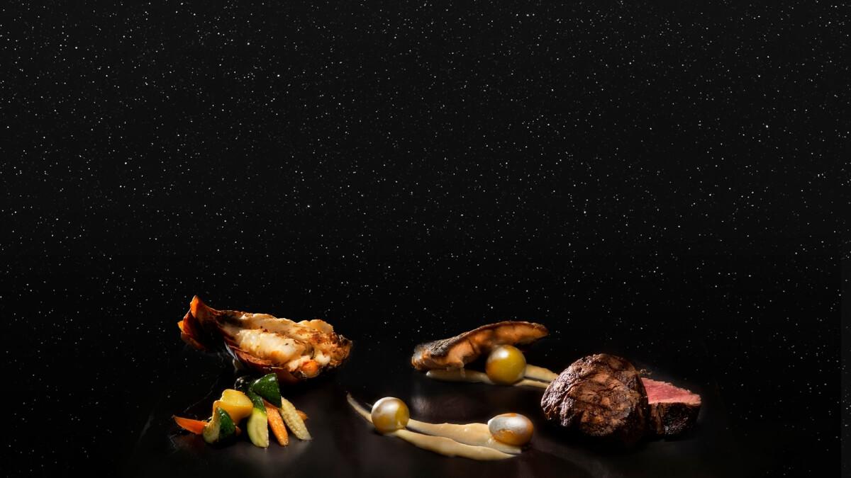 Essen mit Meteoritenstaub