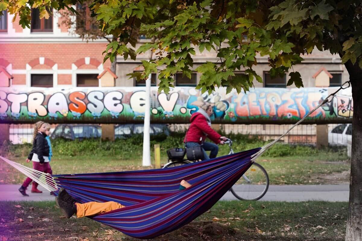 Hängematte im Lene Voigt Park Leipzig