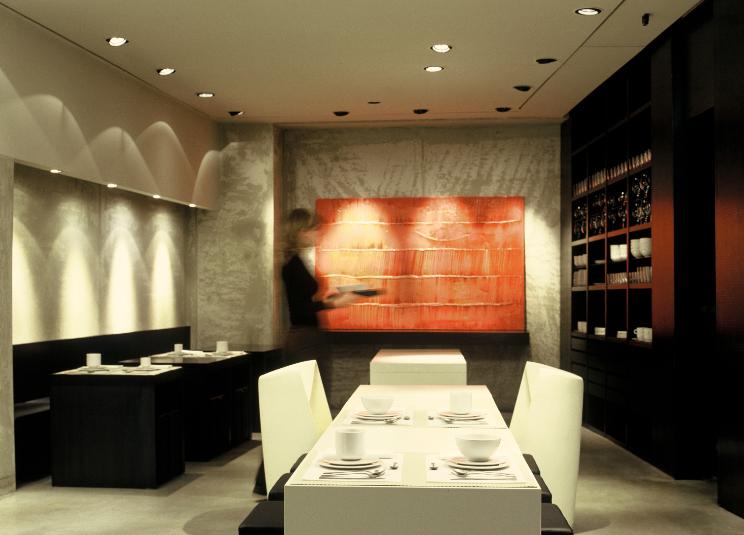 La sala ristorante dello STRAF hote