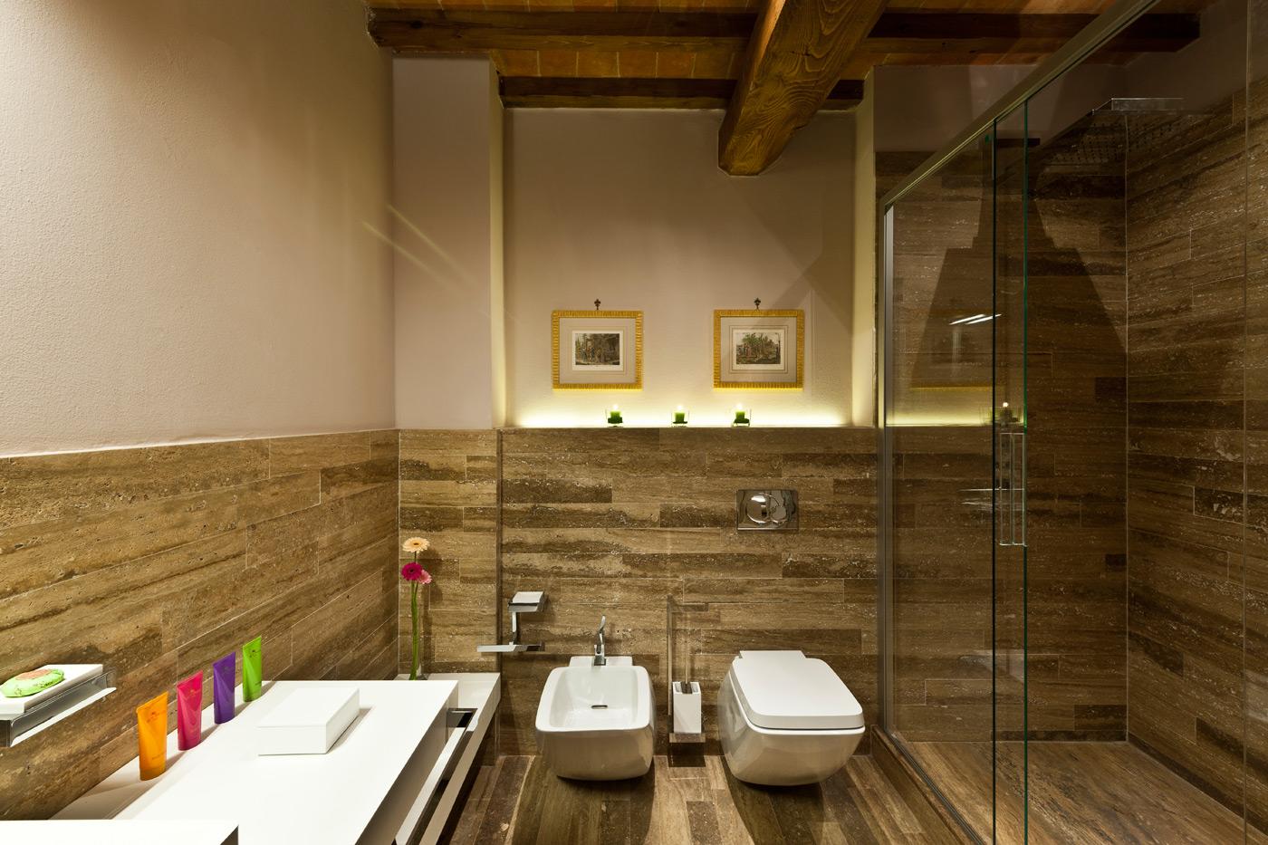 Bagno di una delle camere di Villa Armena