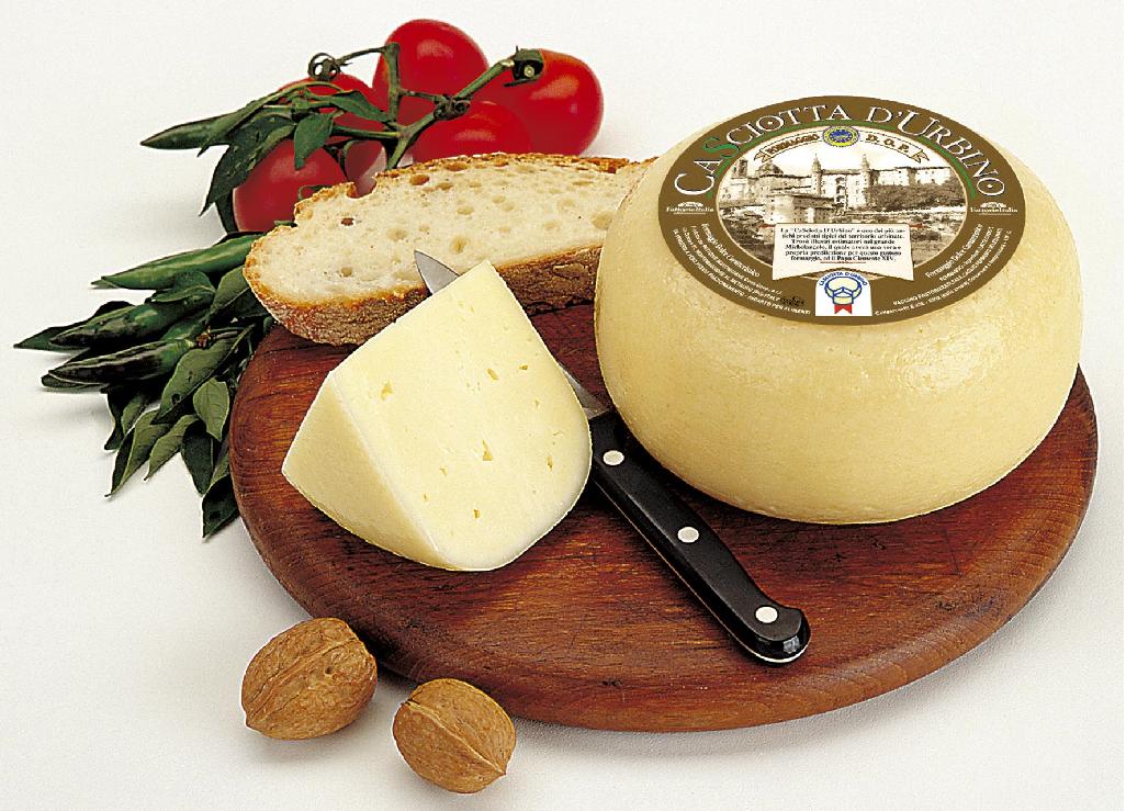 La deliziosa Casciotta di Urbino, riconosciuta prodotto DOP dal 1981.