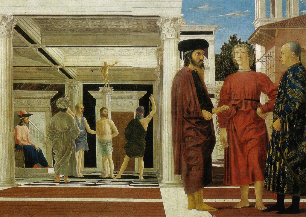 Piero della Francesca, La flagellazione di Cristo - Galleria Nazionale delle Marche, Palazzo Ducale di Urbino