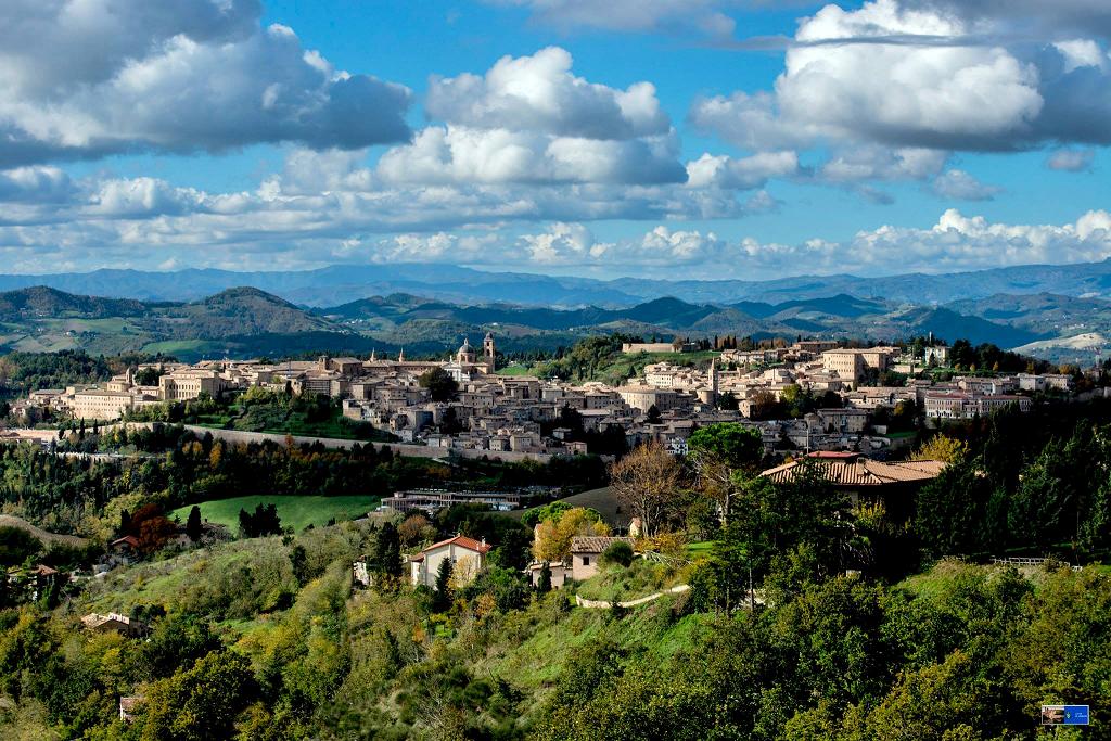 Veduta di Urbino. Foto Città di Urbino