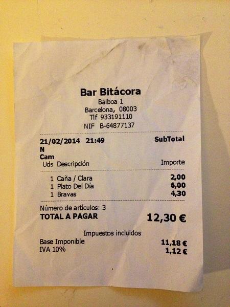 Bitácora - 12:30 euro