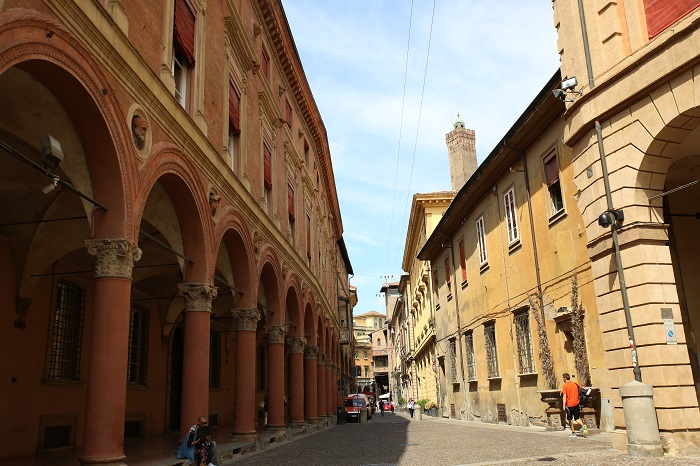 Vie e portici di Bologna © Beatriz Huélamo