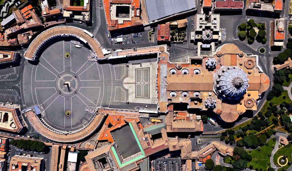 Basilica di San Pietro in Vaticano - 41°54′8″N 12°27′12″E
