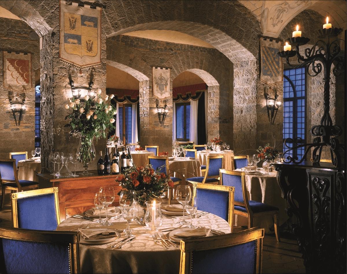 Il ristorante del Castello della Castelluccia