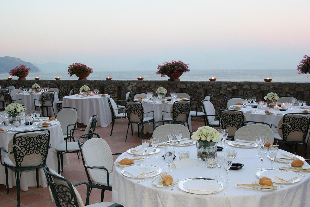 Il ristorante del Grand Hotel Il Saraceno