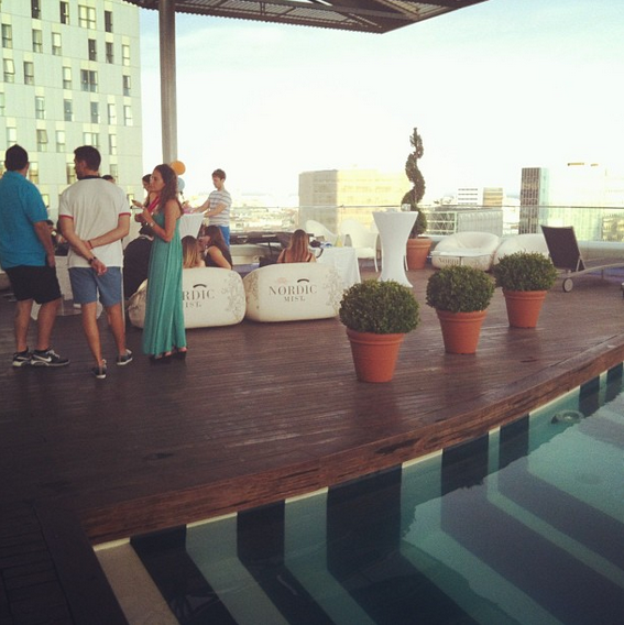 Enjoying the Hotel Silken Diagonal Terrace
