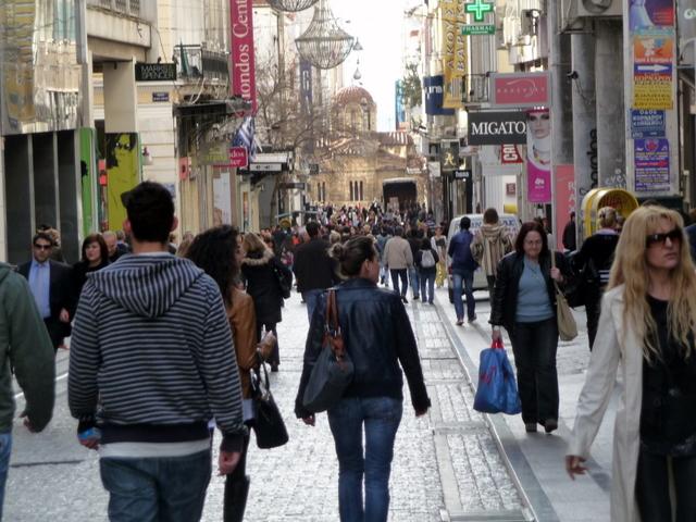 Ermou Street in Athens