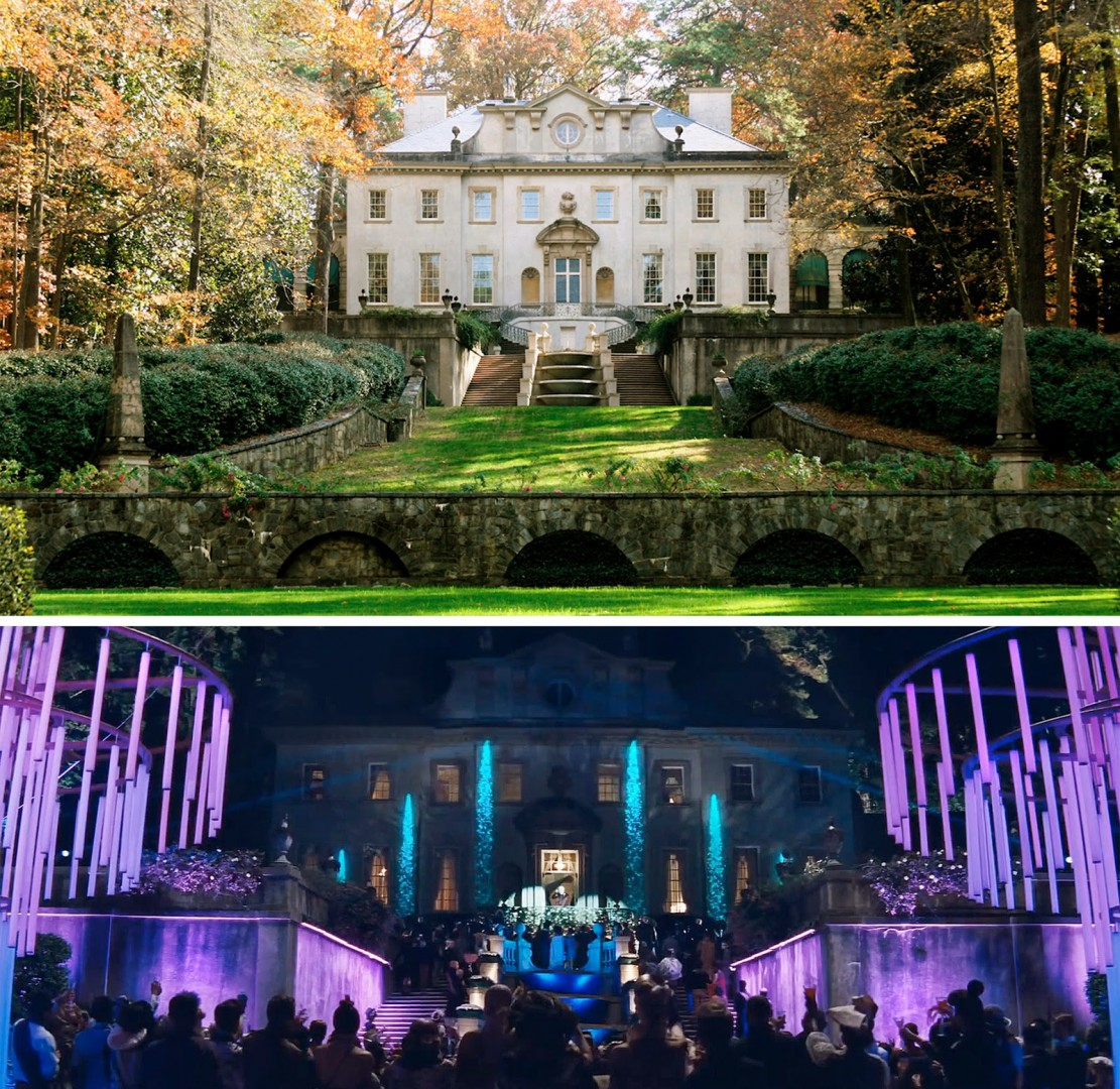 The Swab House in Atlanta present day and in The Hunger Games: Catching Fire.