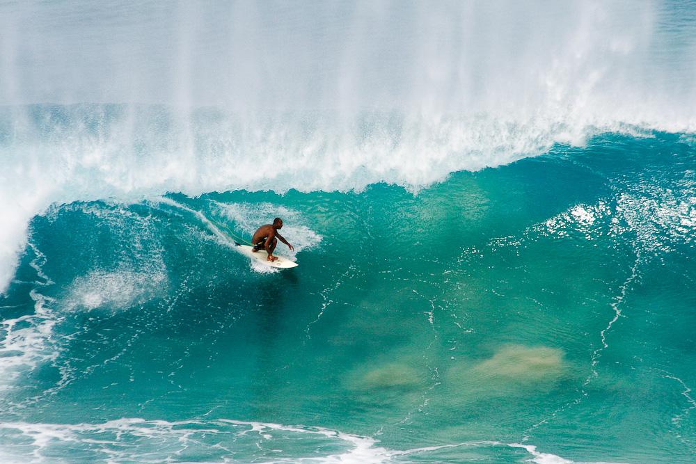 Surfing at Fernando de Noronha