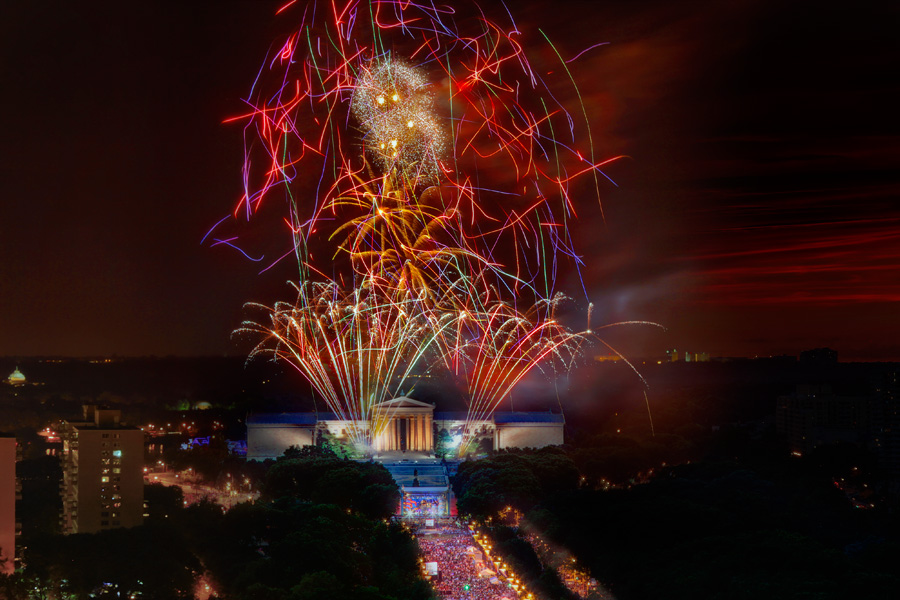 Philadelphia Museum of Art July 4th Fireworks