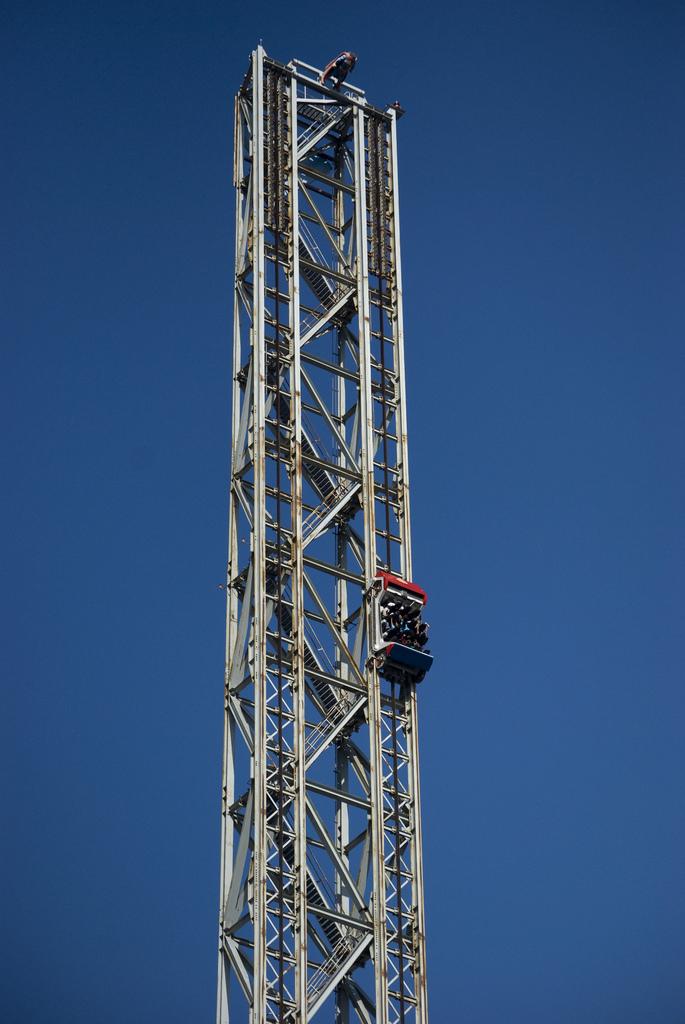 Super: Escape from Kypton at Six Flags Magic Mountain Amusement Park Valencia California