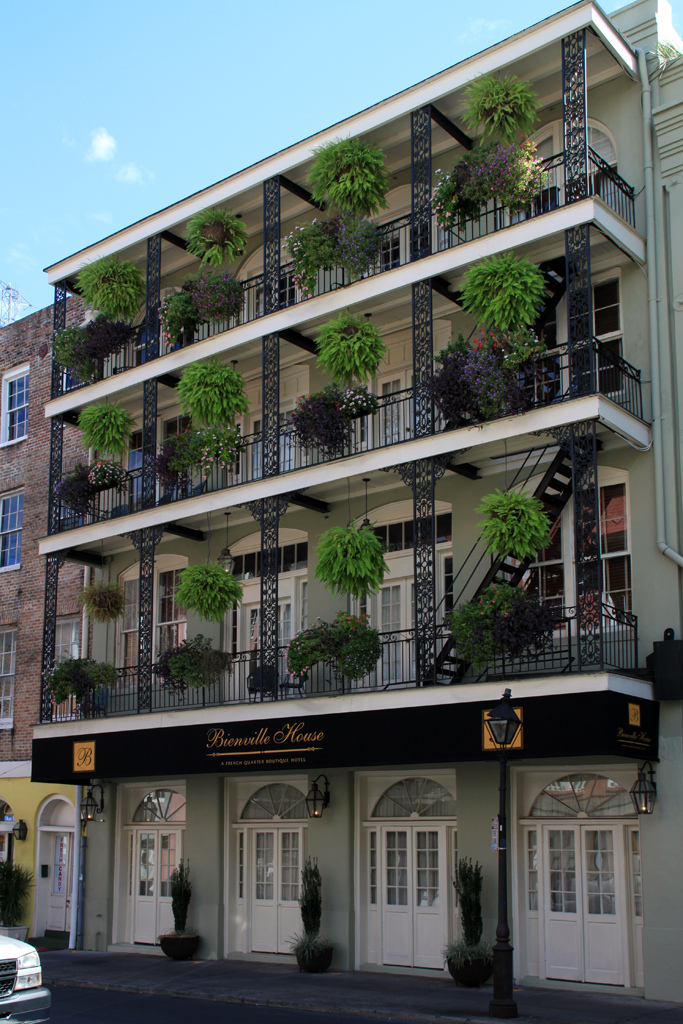 Typical New Orleans hotel