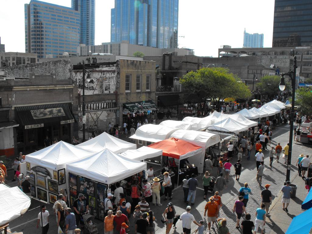 Festival Scene in Austin Texas - The Pecan Street Festival