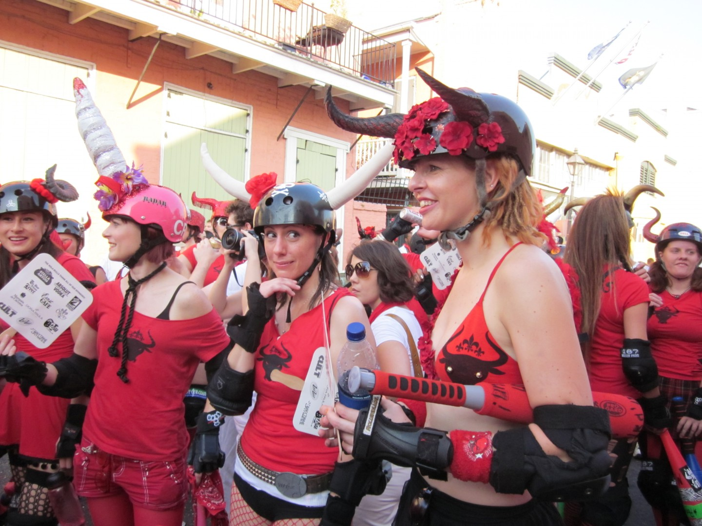 San Fermin Run of the Bulls in New Orleans