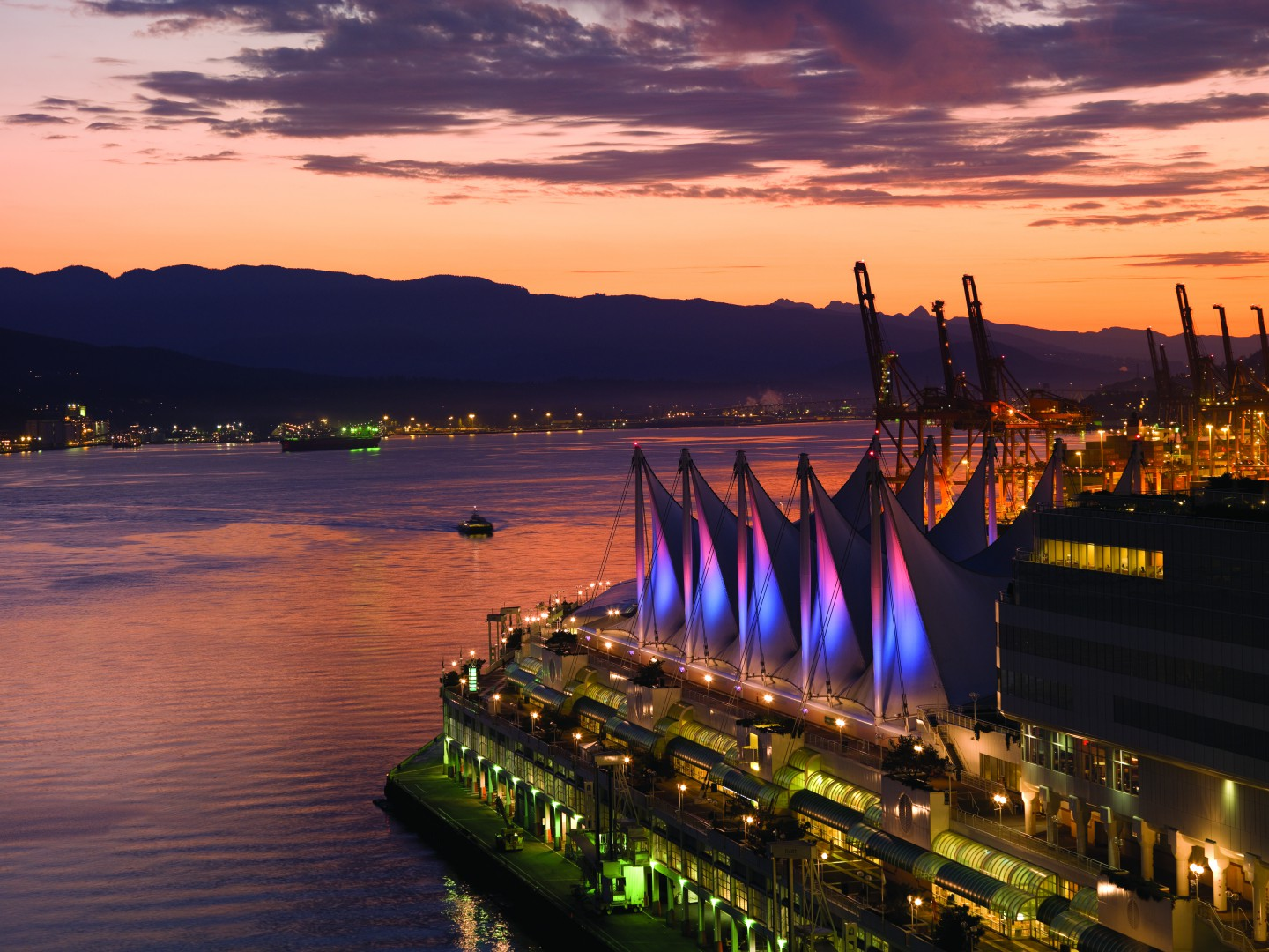 Vancouver waterfront view of Farimont Pacific Rim Hotel