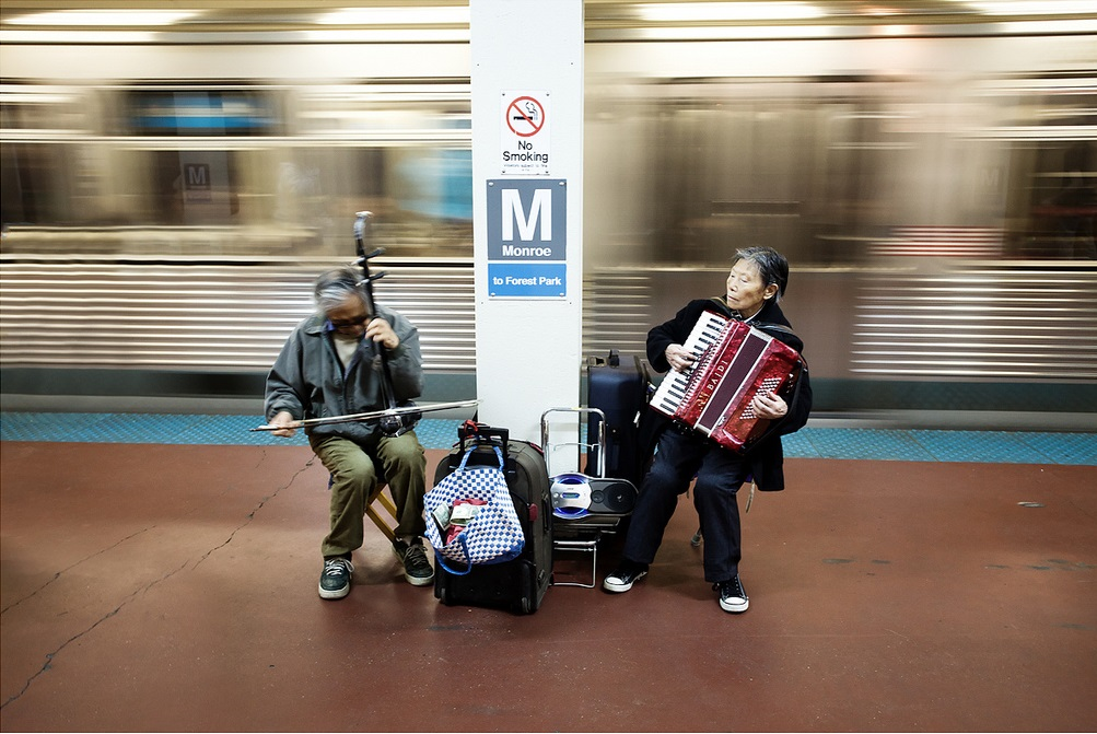 Chicago subway musicians