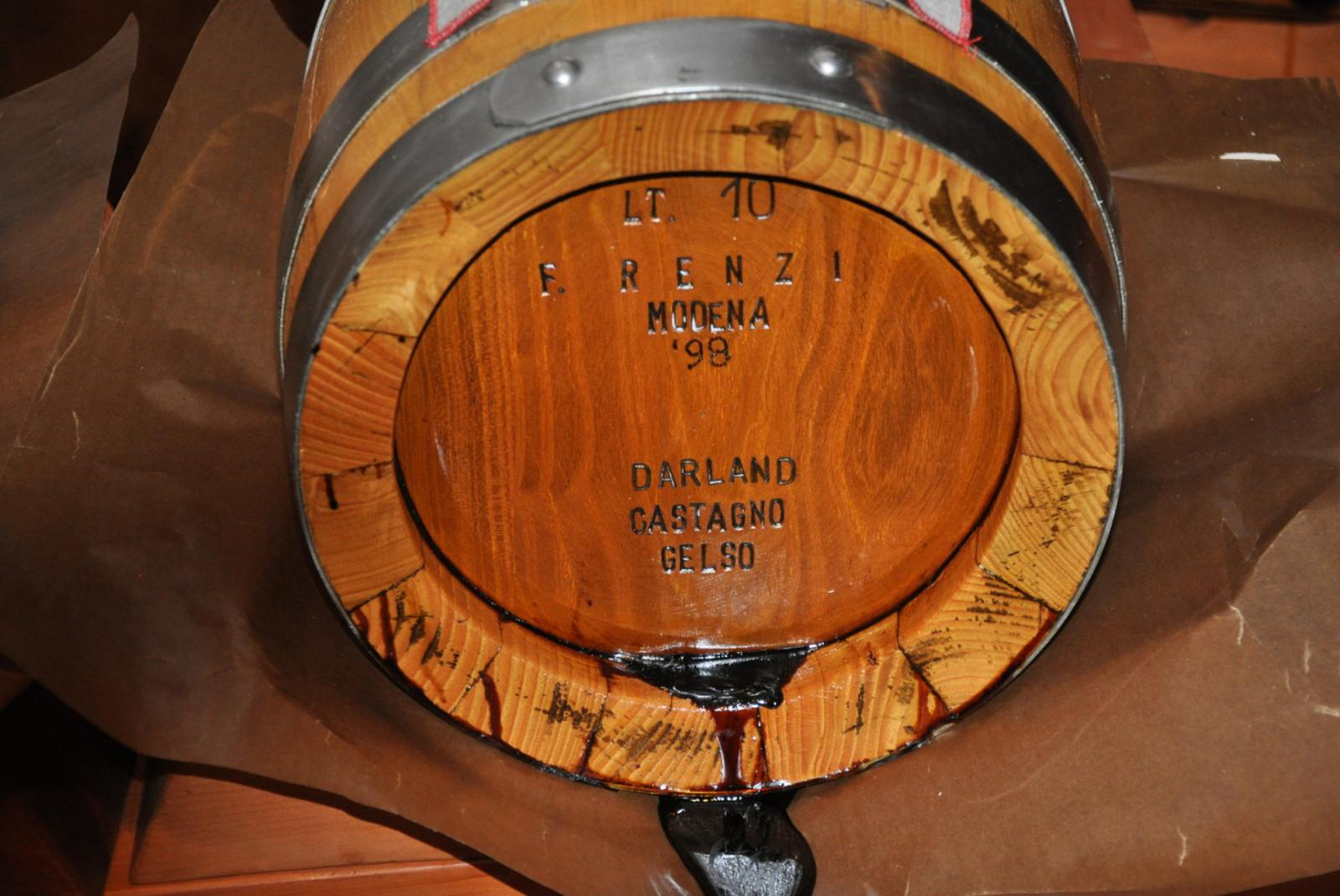 Renzi barrel Balsamic Vinegar New Mexico