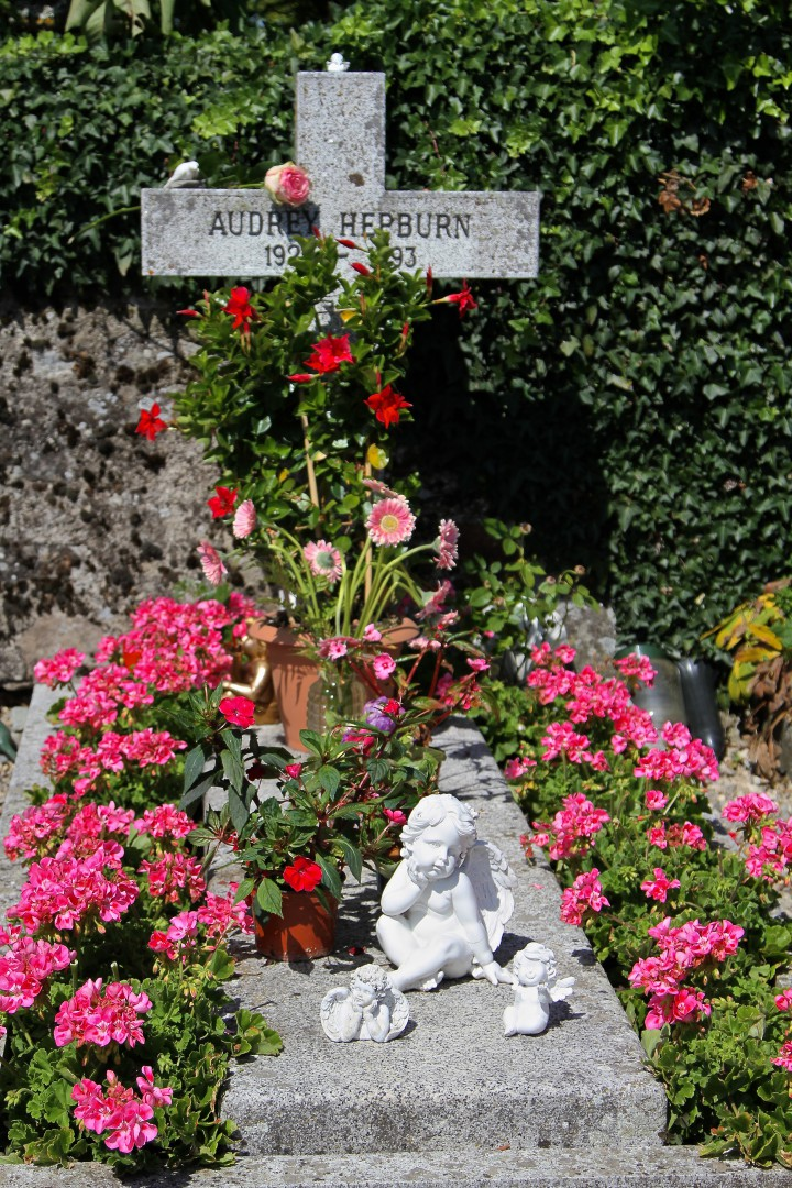 Audrey Hepburn's gravesite, Photo by Bruce N. Meyer