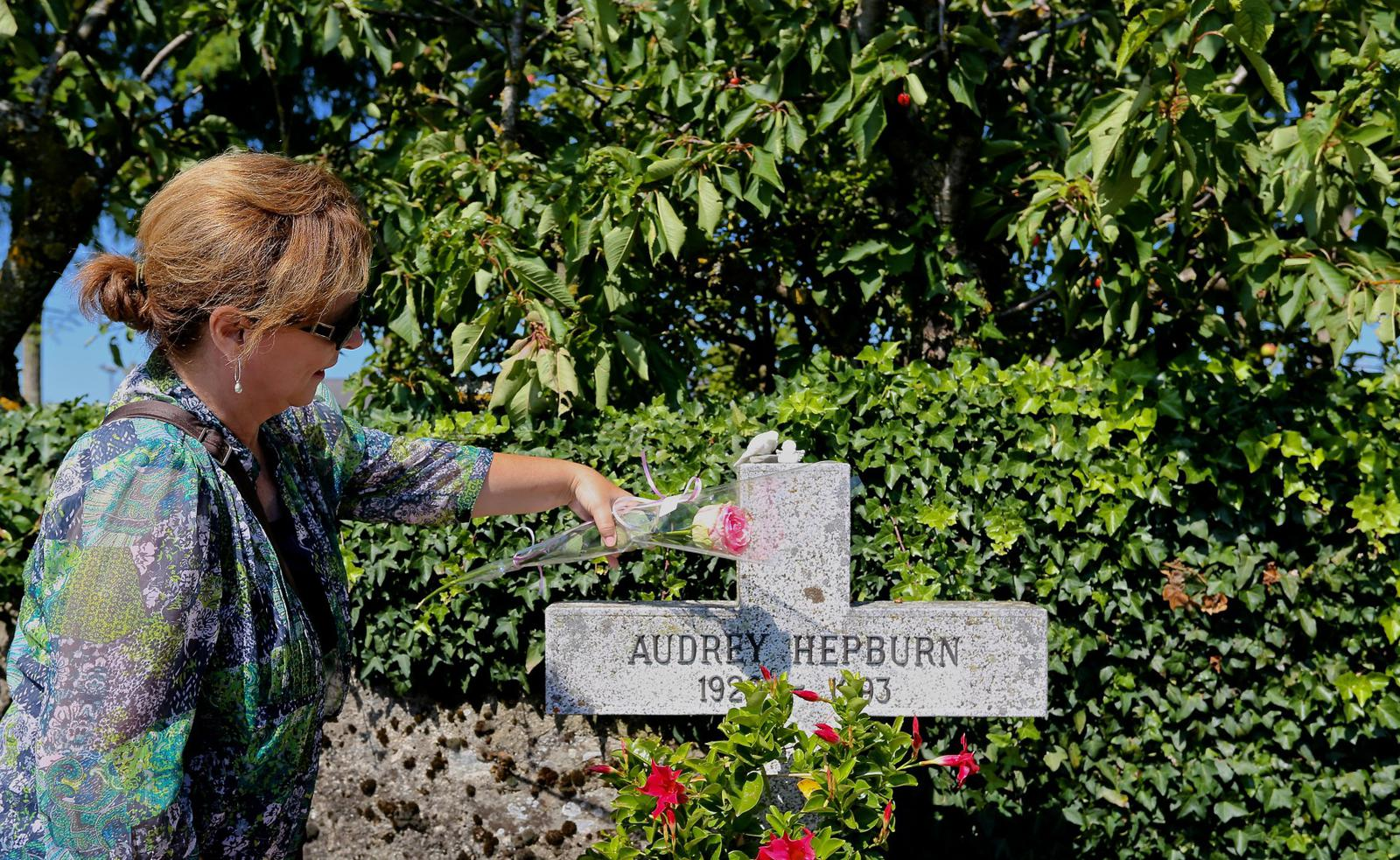 Audrey Hepburn's grave in Switzerland