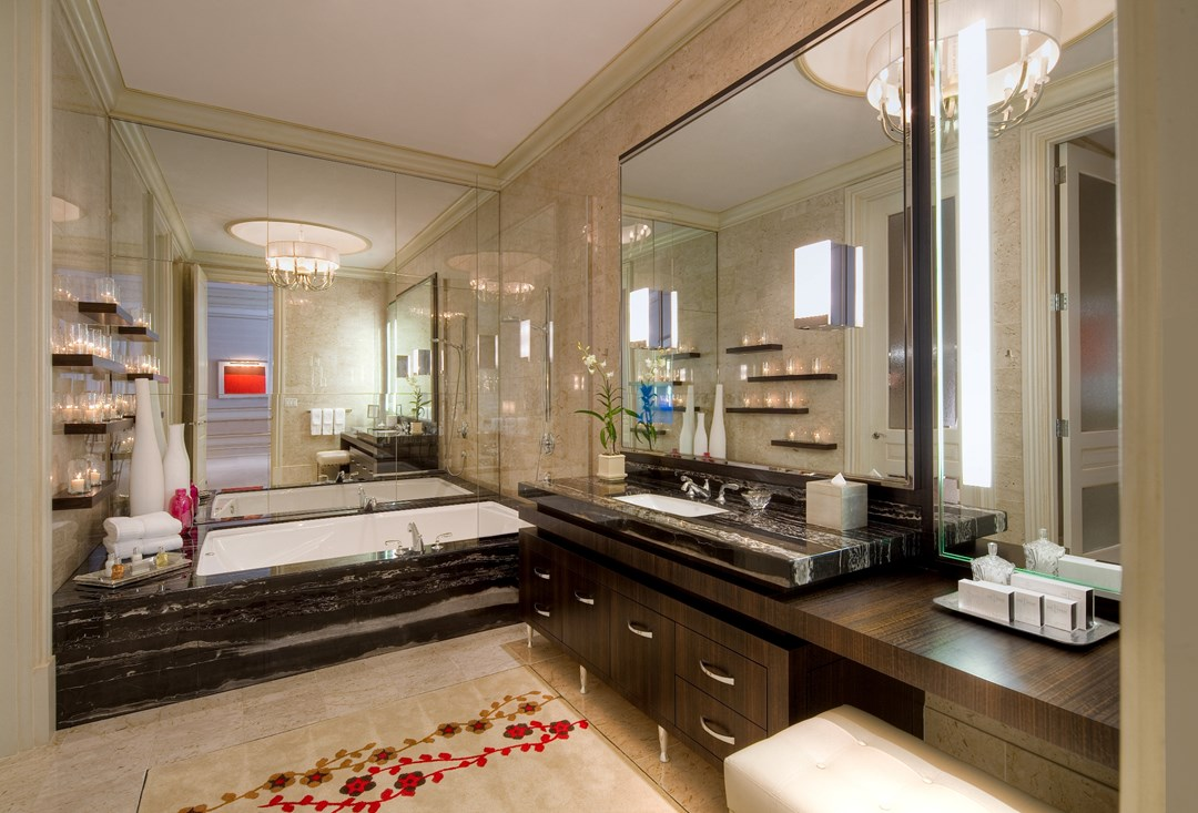 Villa bathroom at The Mirage