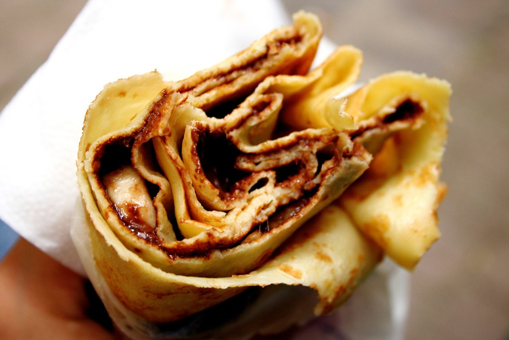Delicious Late-Night Nutella Banana Crepe