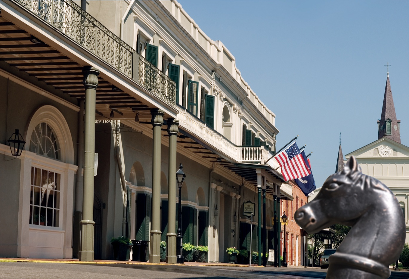 Street view of the Bourbon Hotel New Orleans