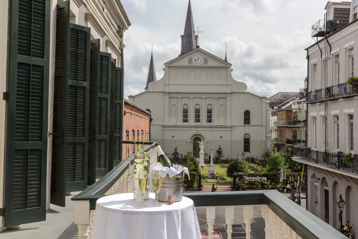 St. Louis Cathedral View Bourbon Hotel New Orleans