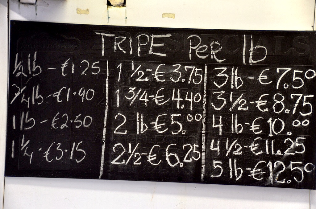 Tripe by the pound in Ireland