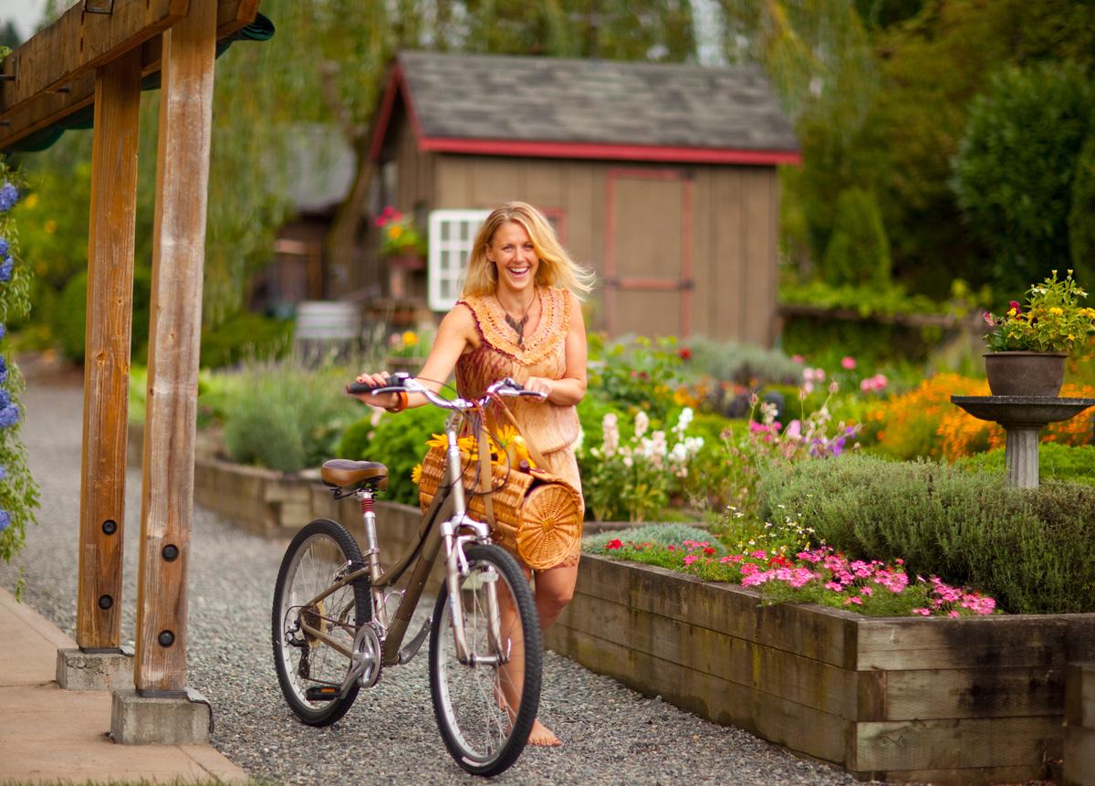 Biking around Willows Lodge Hotel Seattle