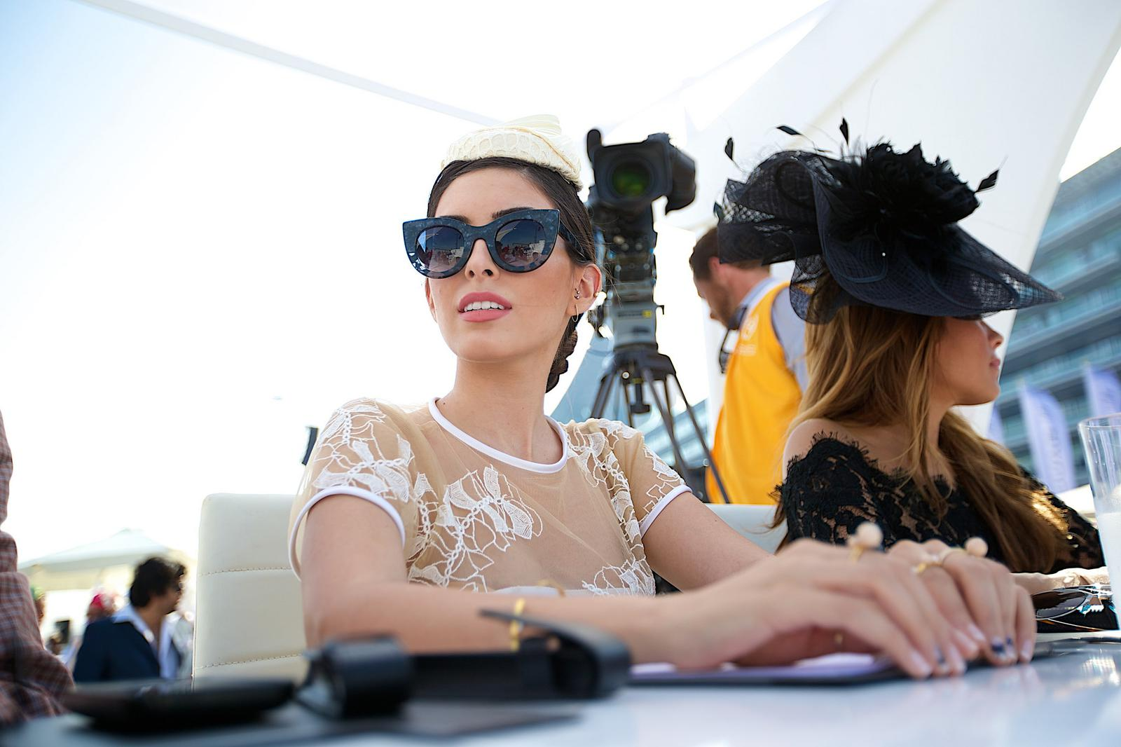 Fancy hats at the the Derby