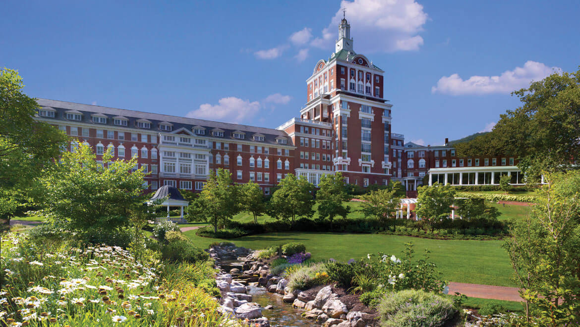 Historic American resorts Omni Homestead Virginia