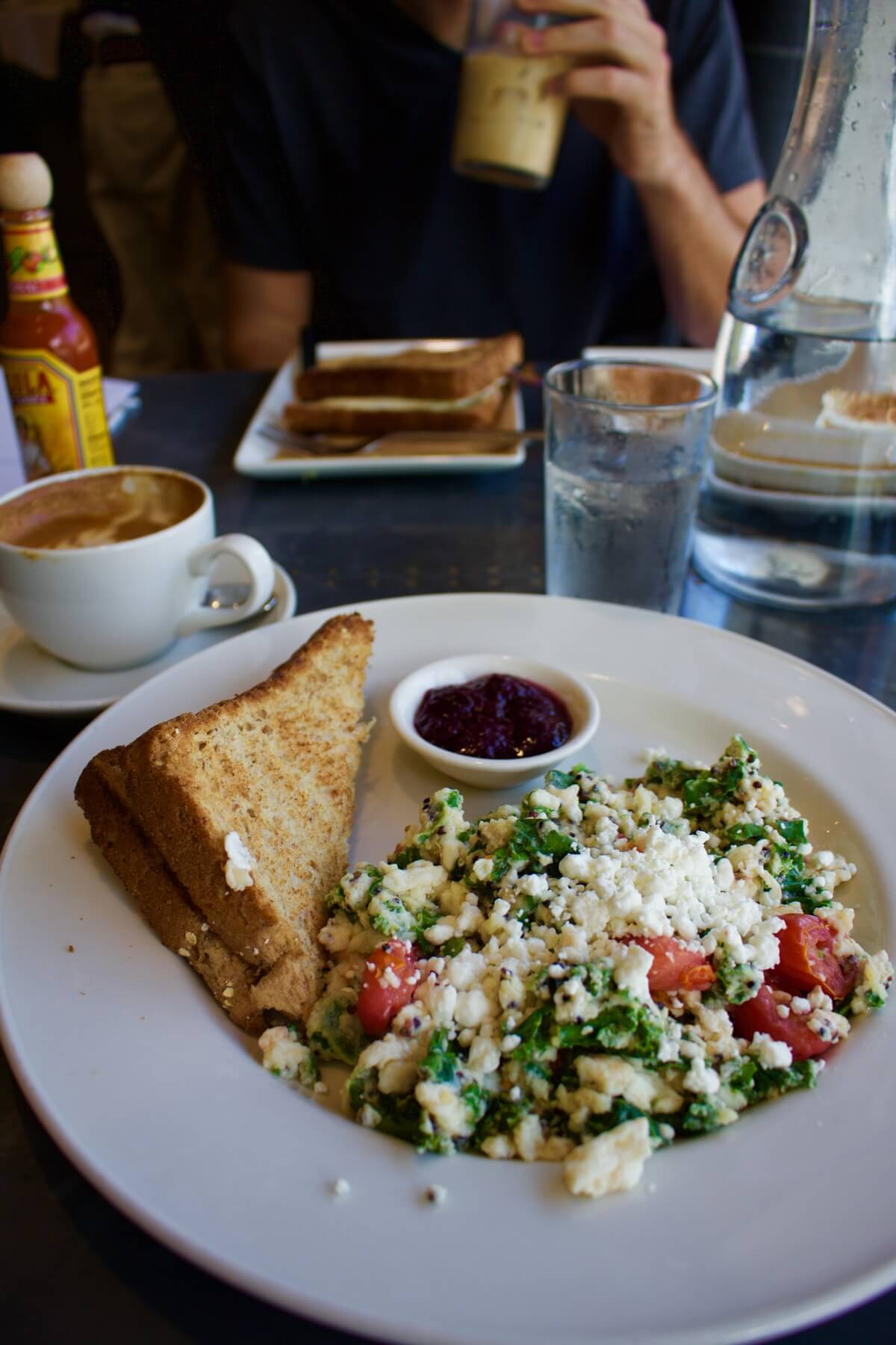 Healthy Restaurants Tampa Oxford Exchange Kale Scrambled Eggs