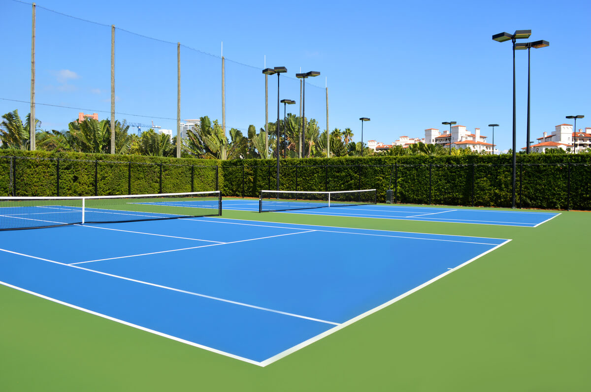 Cusion courts at Miami Fischer Tennis Club