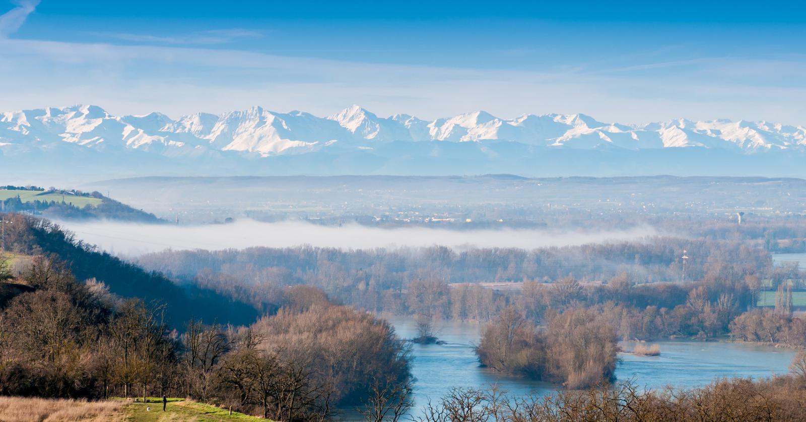 Pyrénées depuis Toulouse