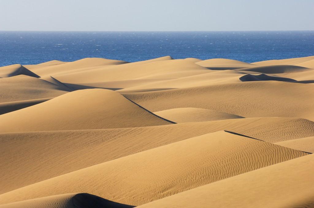 viajar en Semana Santa vista de la playa de Maspalomas en Gran Canaria