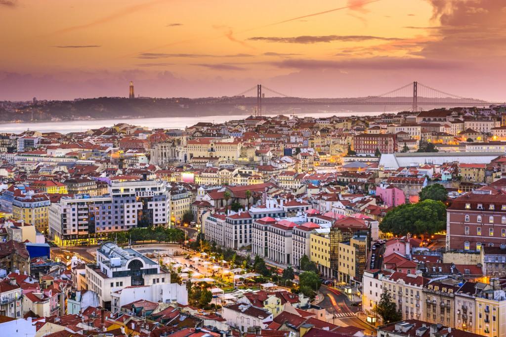 viajar en Semana Santa vista aérea de Lisboa