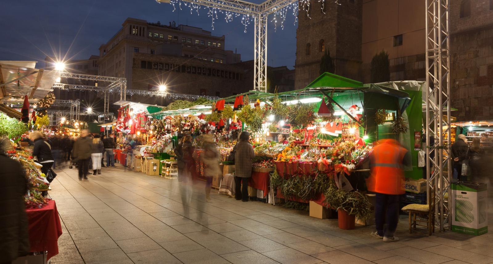 Traditional Christmas market in Barcelona