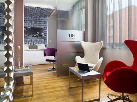 Habitación suite del Hotel NH Ourense. Fotografía: www.nh-hotels.com