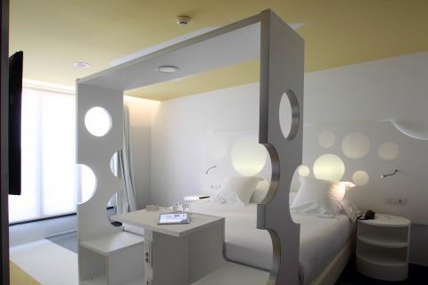 Habitación del Hotel Room Mate Pau, Barcelona. Fotografía: pau.room-matehotels.com