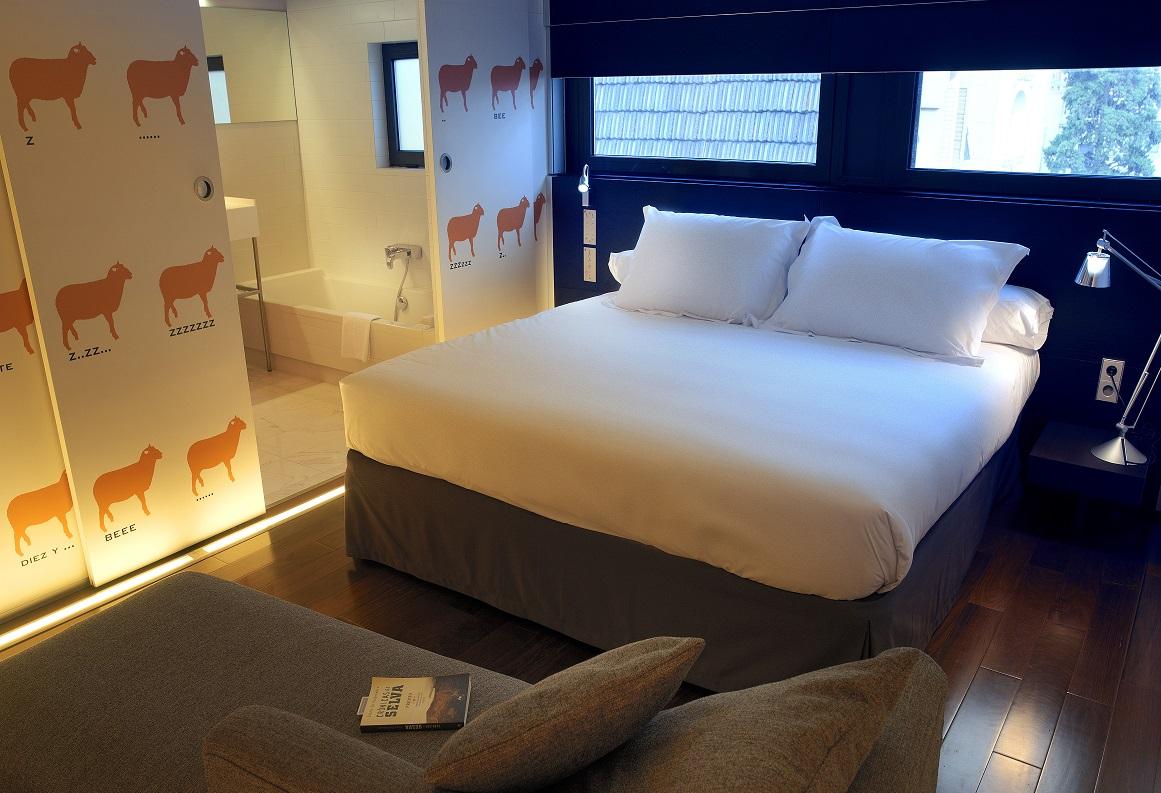 hoteles con encanto Habitación del Eurostars Anglí en Barcelona.