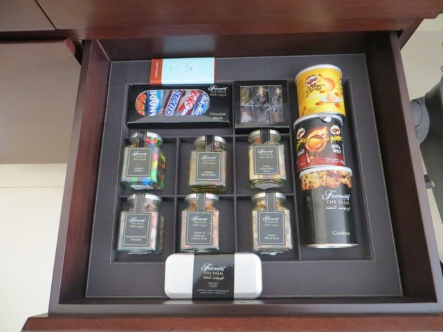 Amenities del hotel Faimont The Palm.