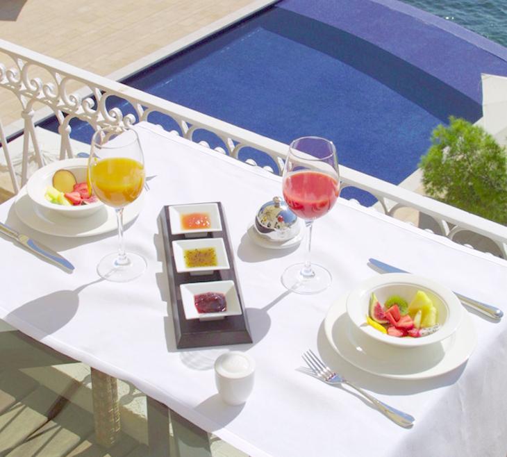 desayuno de hotel Desayuno del hotel Hospes Maricel.