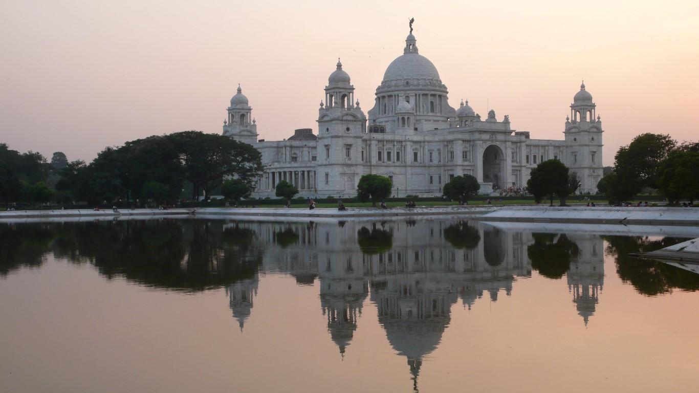vuelta al mundo en 80 días Victoria Memorial de Calcuta en Bengala Occidental, India